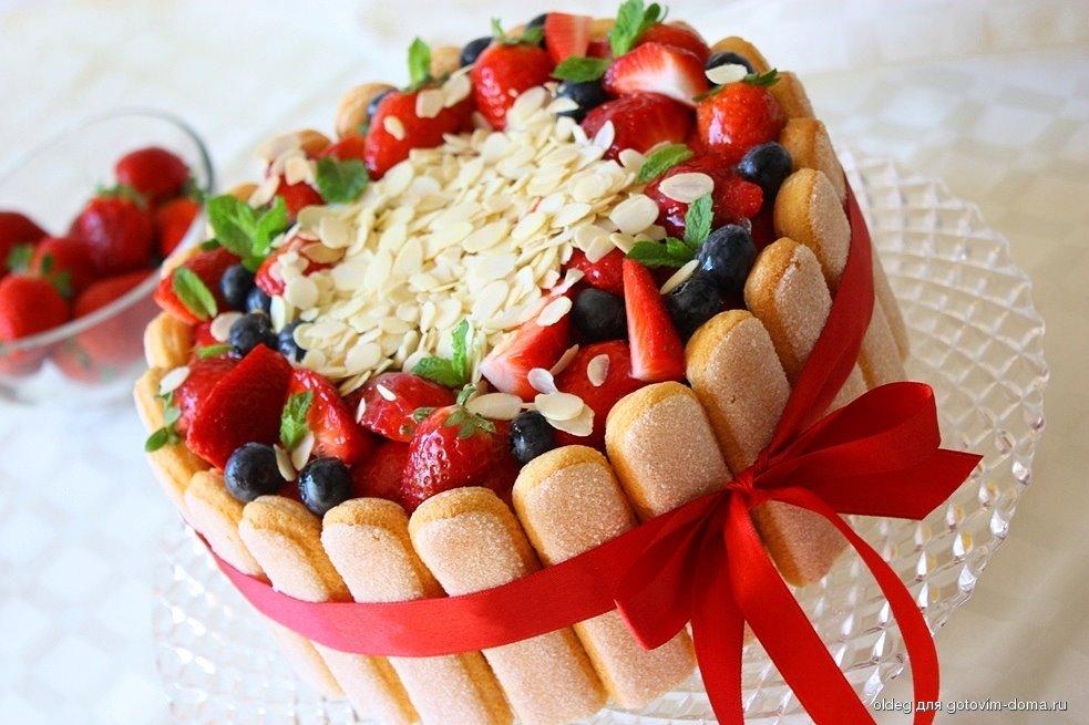 Торт молочная девочка с фруктами рецепт с фото пошагово