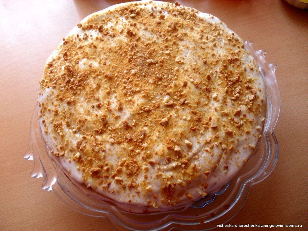 Медовый торт с молоком с фото
