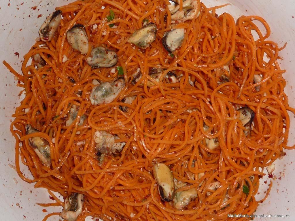 Морковь по-корейски с грибами рецепт