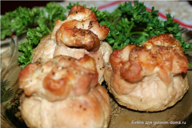 Мясо куриное с грибами рецепт