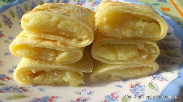 Блины с картошкой пошаговый рецепт с