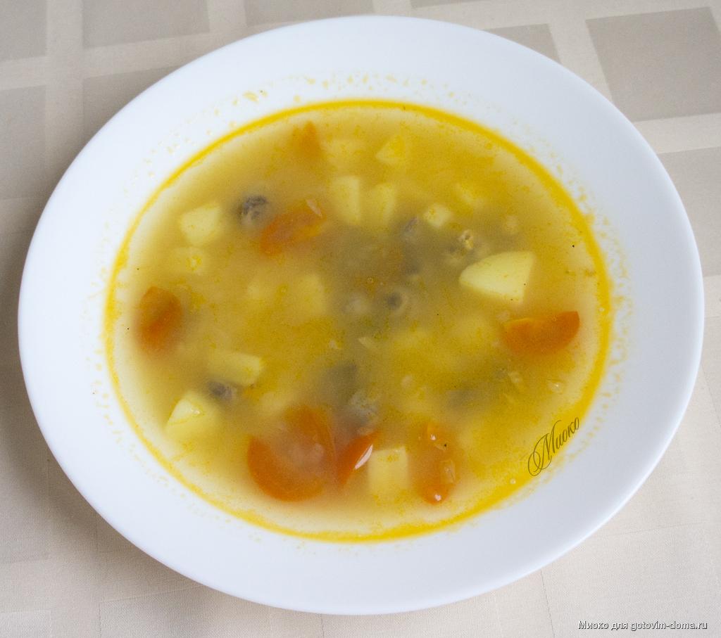 Суп из сердечек куриных