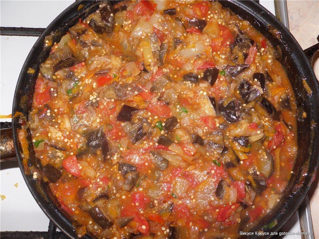 икра из баклажанов рецепт с фото на сковороде