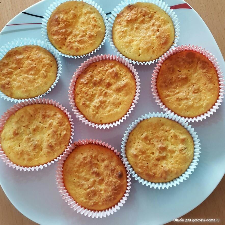 Апельсиновые кексы в силиконовых формочках рецепт