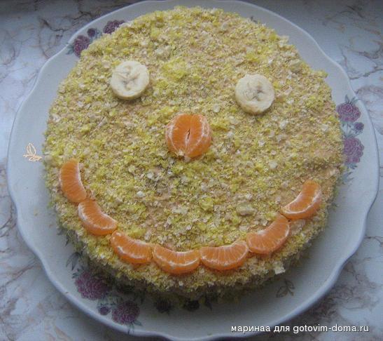 Торт из крекера и вафель