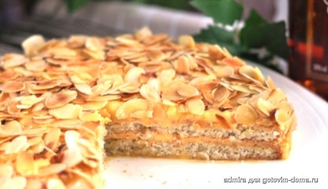 шведский миндальный торт с ирисом рецепт