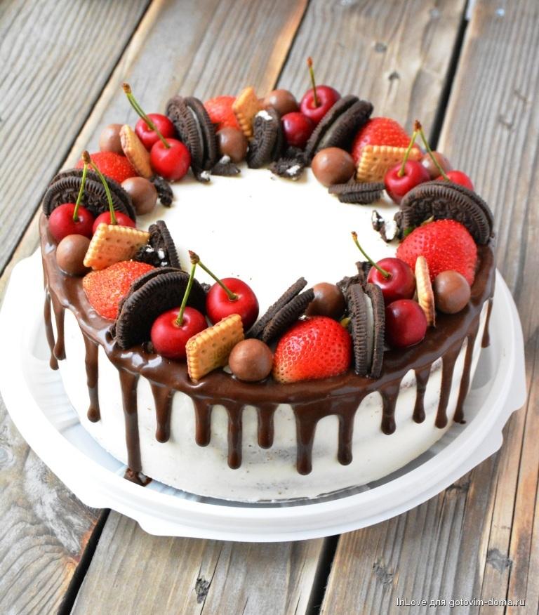 работе оформление торта клубникой и шоколадом фото мне