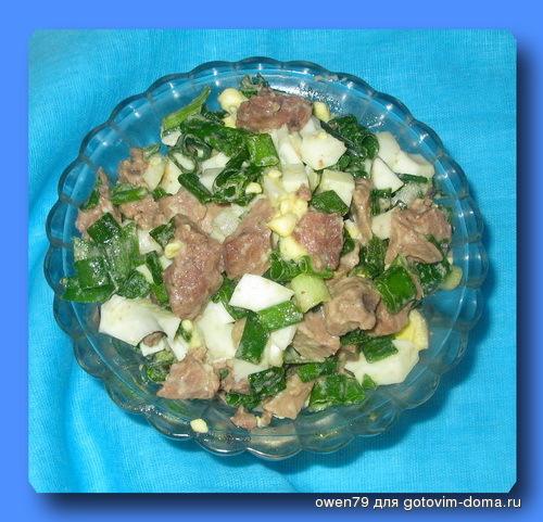 Салат с печенью трески с грибами рецепт