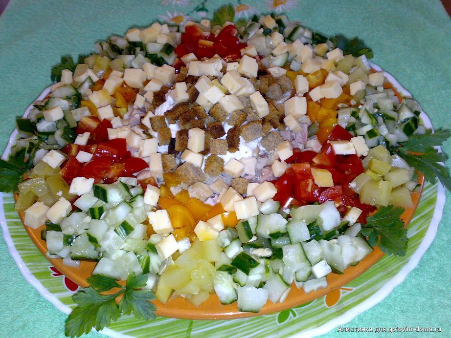 Салат малибу рецепт пошагово