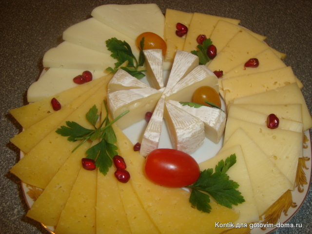 Как нарезать сыр красиво своими руками фото
