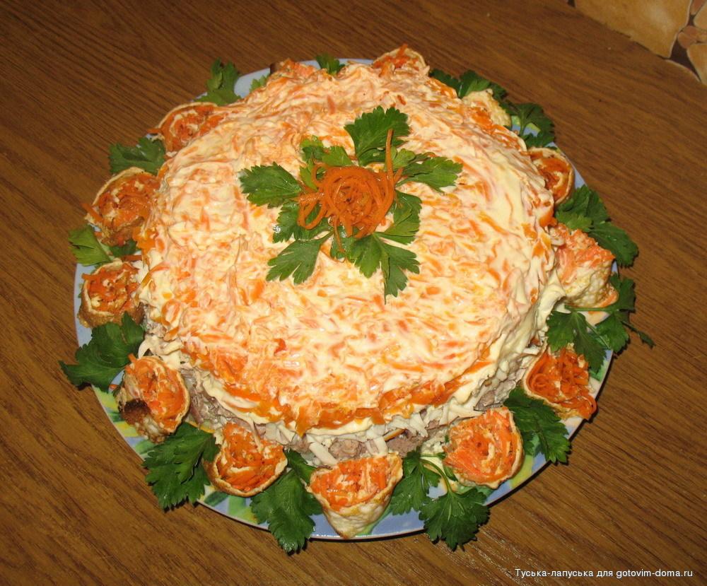 Мясные салаты на праздничный стол рецепты с простые