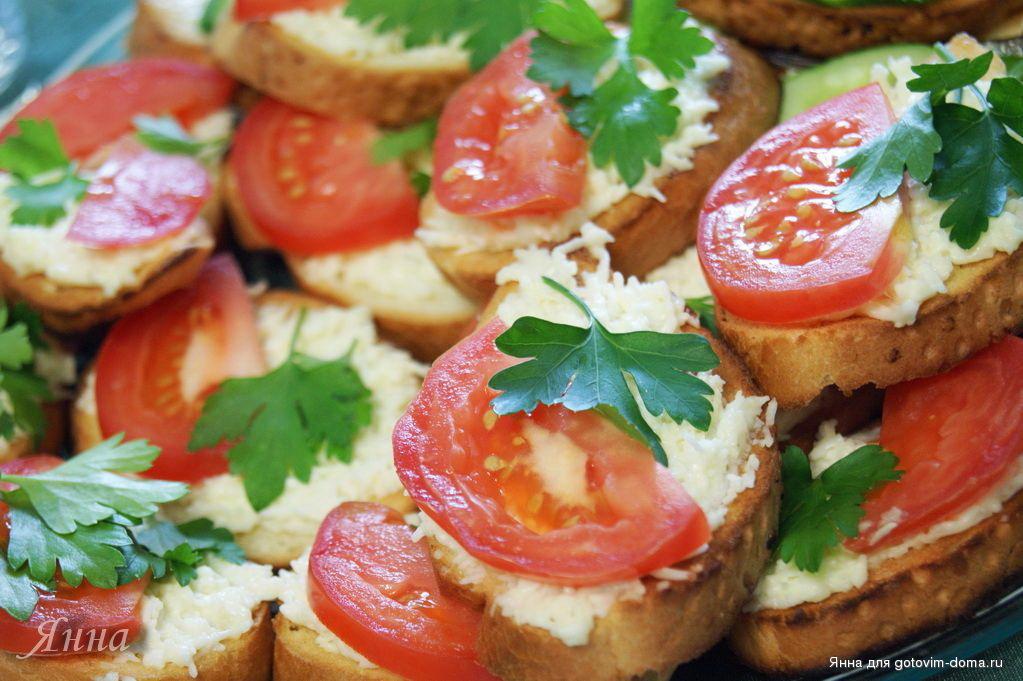 Как сделать бутерброды с чесноком 567