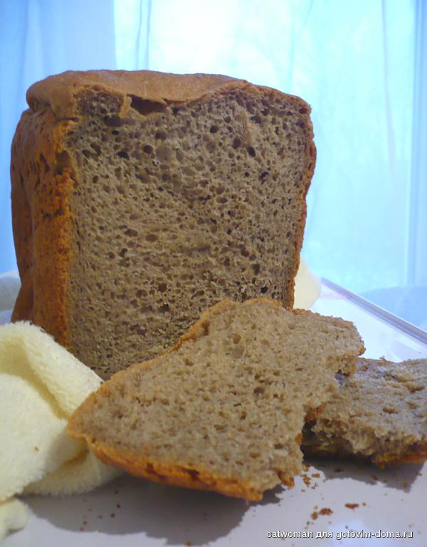 Хлеб ржаной на пиве в хлебопечке