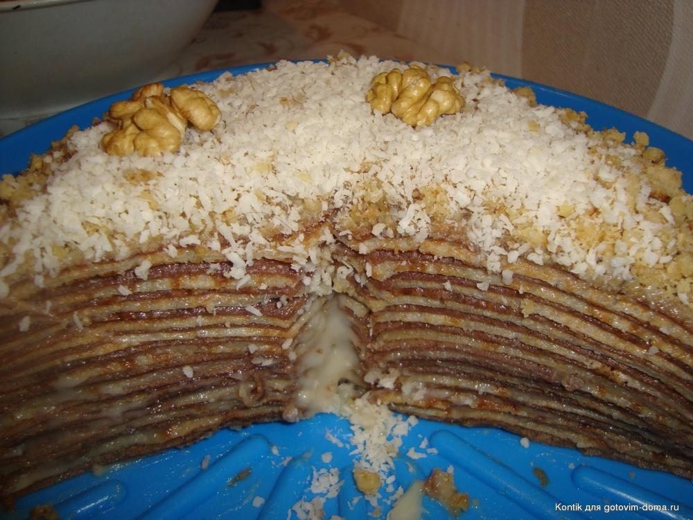 Блинный торт с заварным кремом с фото пошагово в домашних условиях