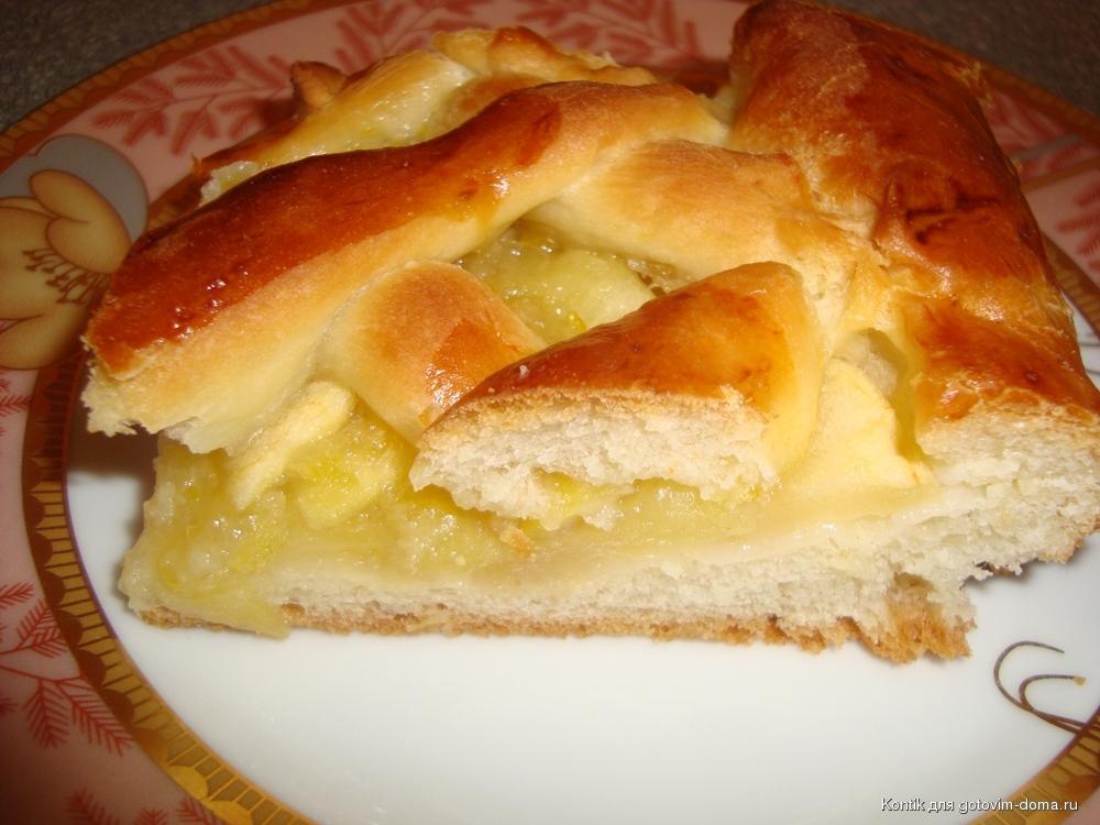 Пирог с лимоном из дрожжевого теста рецепт