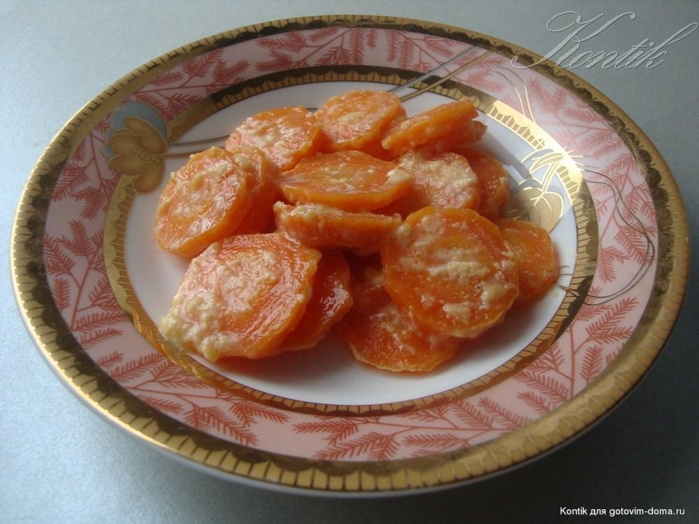 Рецепт тушеной моркови в молоке