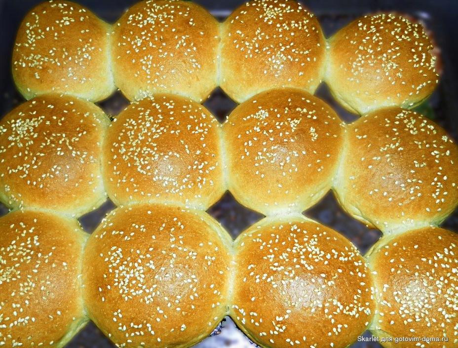 булочка на гамбургер рецепт