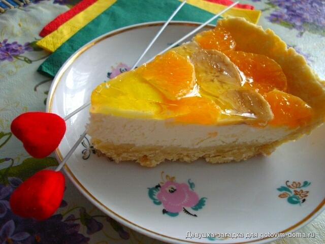 пирог с фруктами в желе рецепт видео