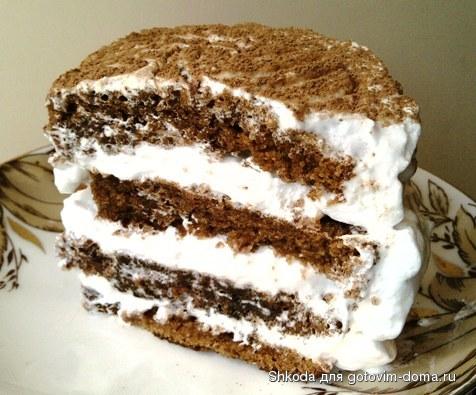 торт с белковым кремом фото рецепт