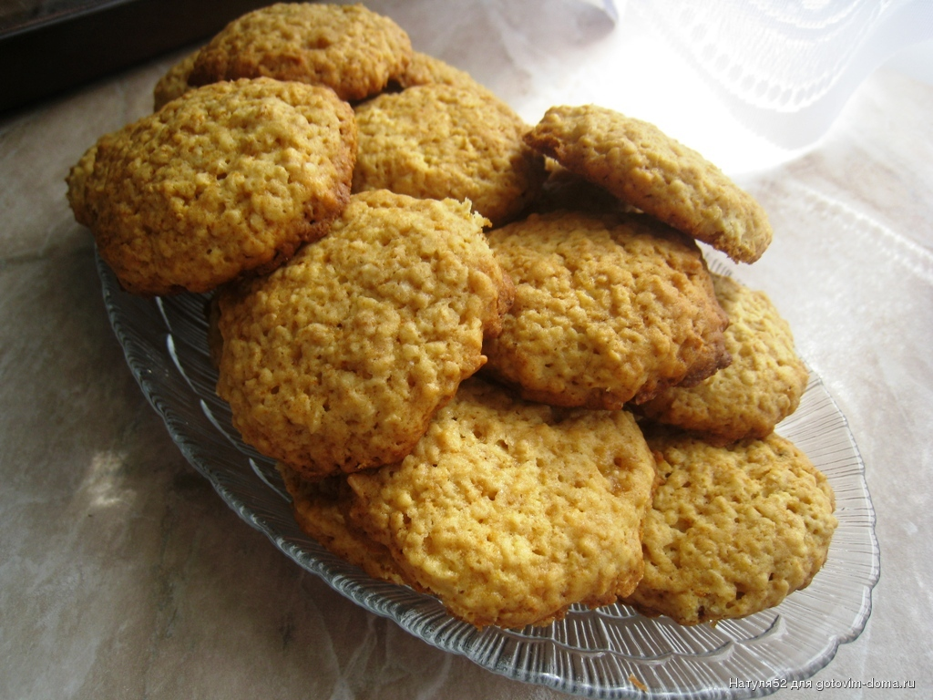 Как делать овсяное печенье дома