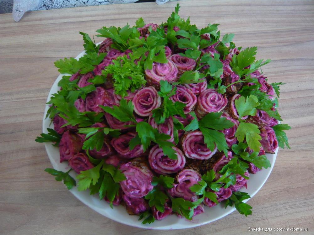 Букет роз рецепт салата с