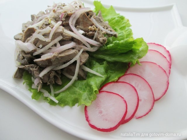 Салат из печени * Салаты мясные