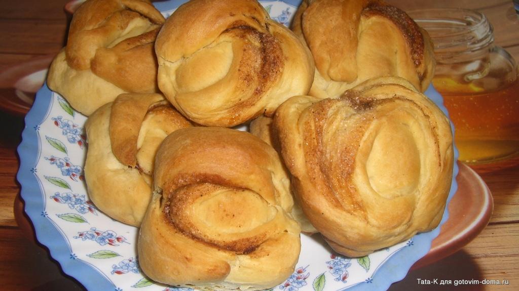 Тесто для булочек с корицей с сухими дрожжами