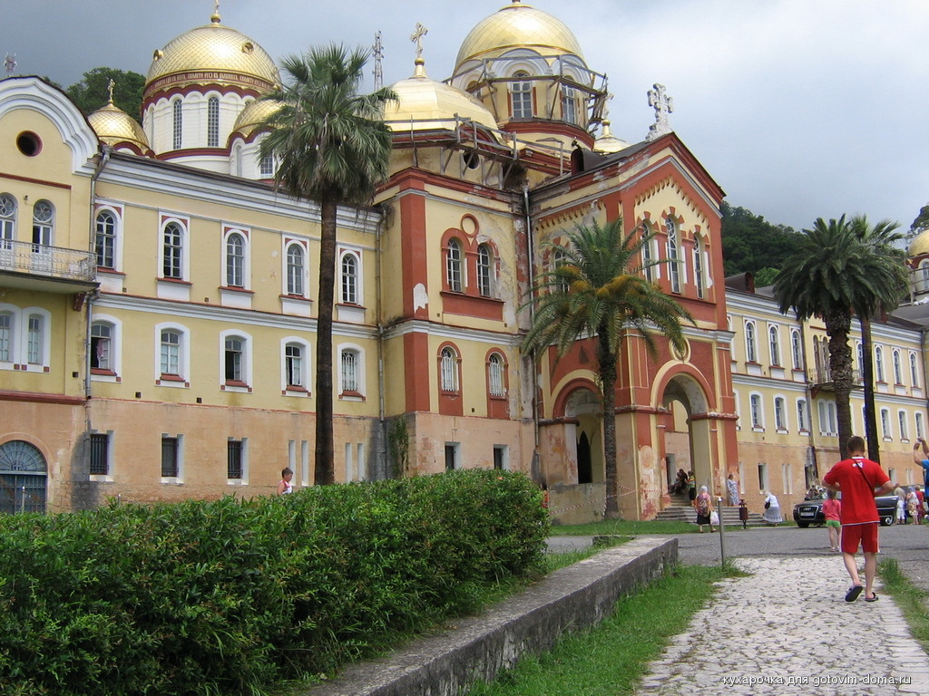 Мужской монастырь в новом афоне фото