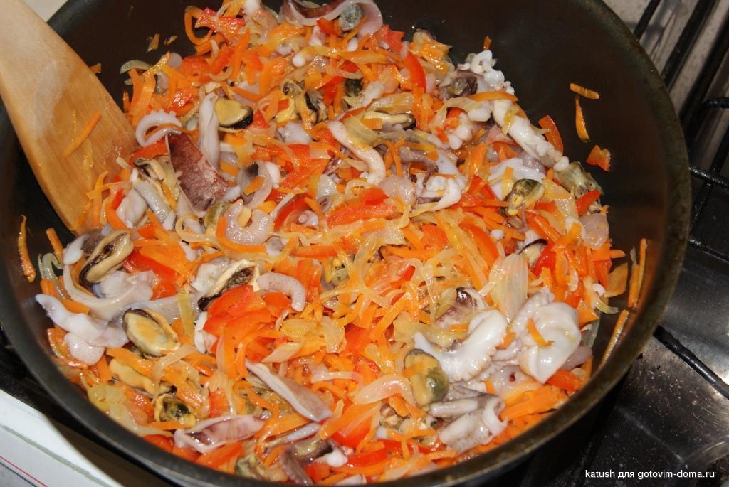 рецепт блюд из морского коктейля с фото