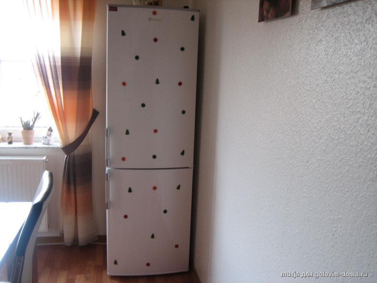 Украсить холодильник на новый год