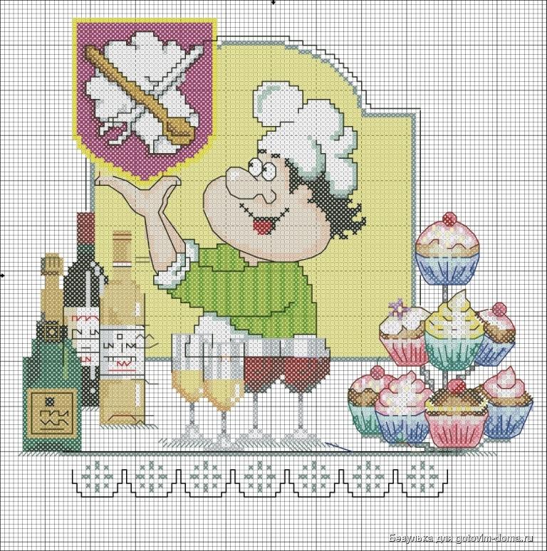 Веселый повар вышивка схема 38