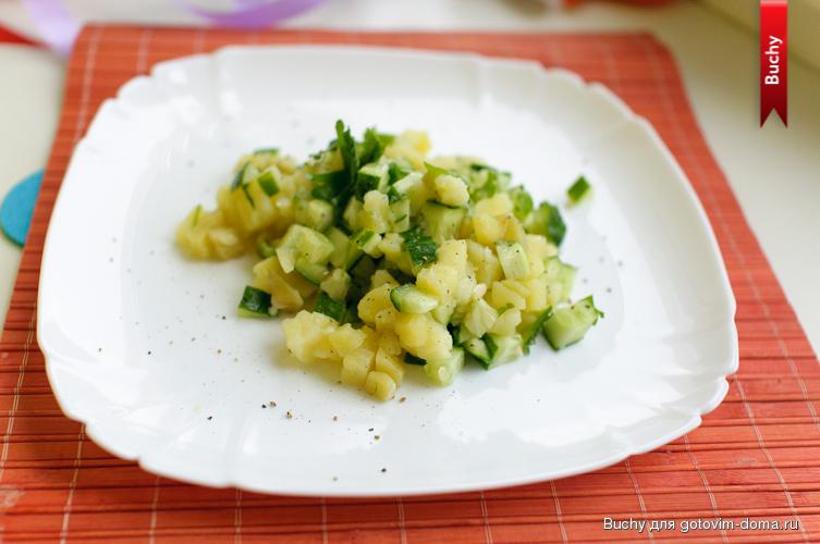салат нежность из свежих огурцов рецепты