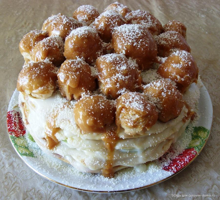 сметанный торт на сковороде рецепт с фото