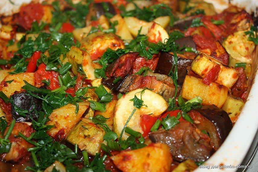 Ощного рагу с картошкой баклажанами