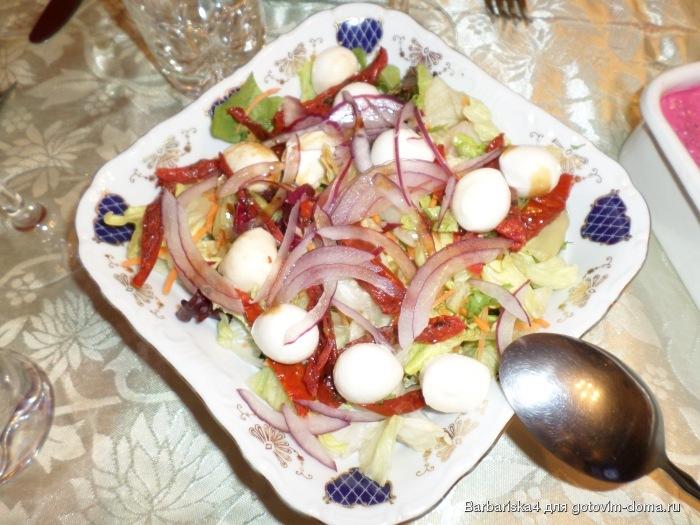 Готовим салаты с вялеными помидорами рецепты фото