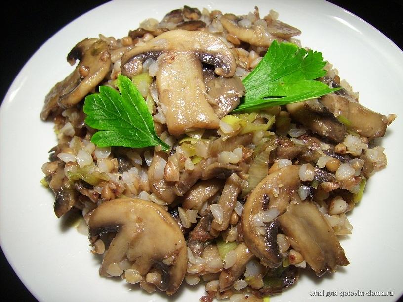 Рецепт гречка с грибами с фото в мультиварке