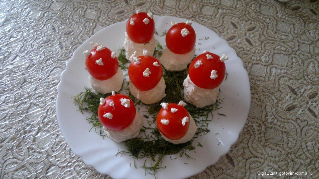 Как сделать грибы из помидоров 935