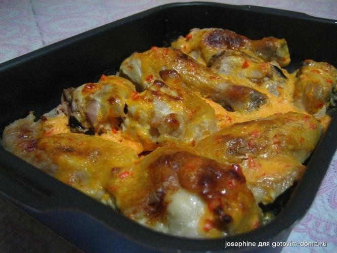 Курица в духовке в сметане рецепты пошагово