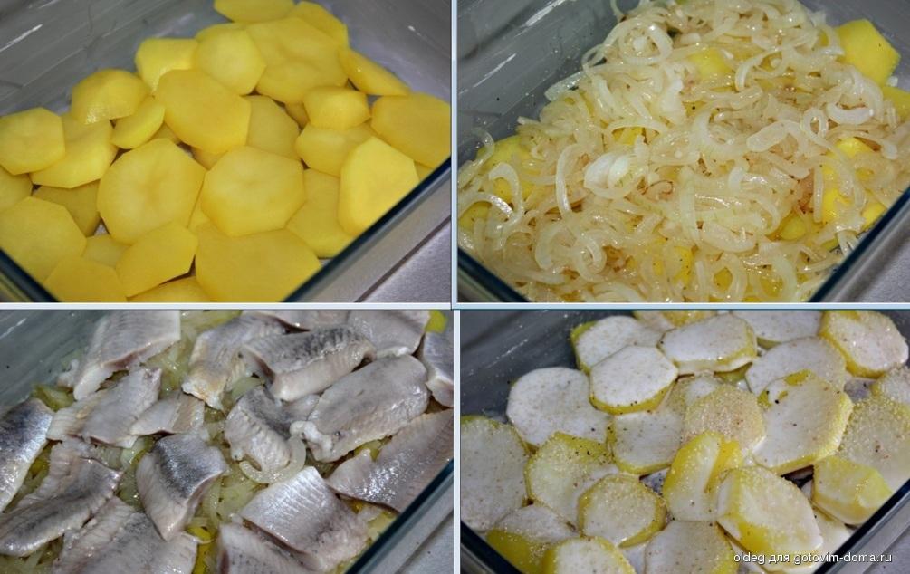 Селедка запеченная с картошкой