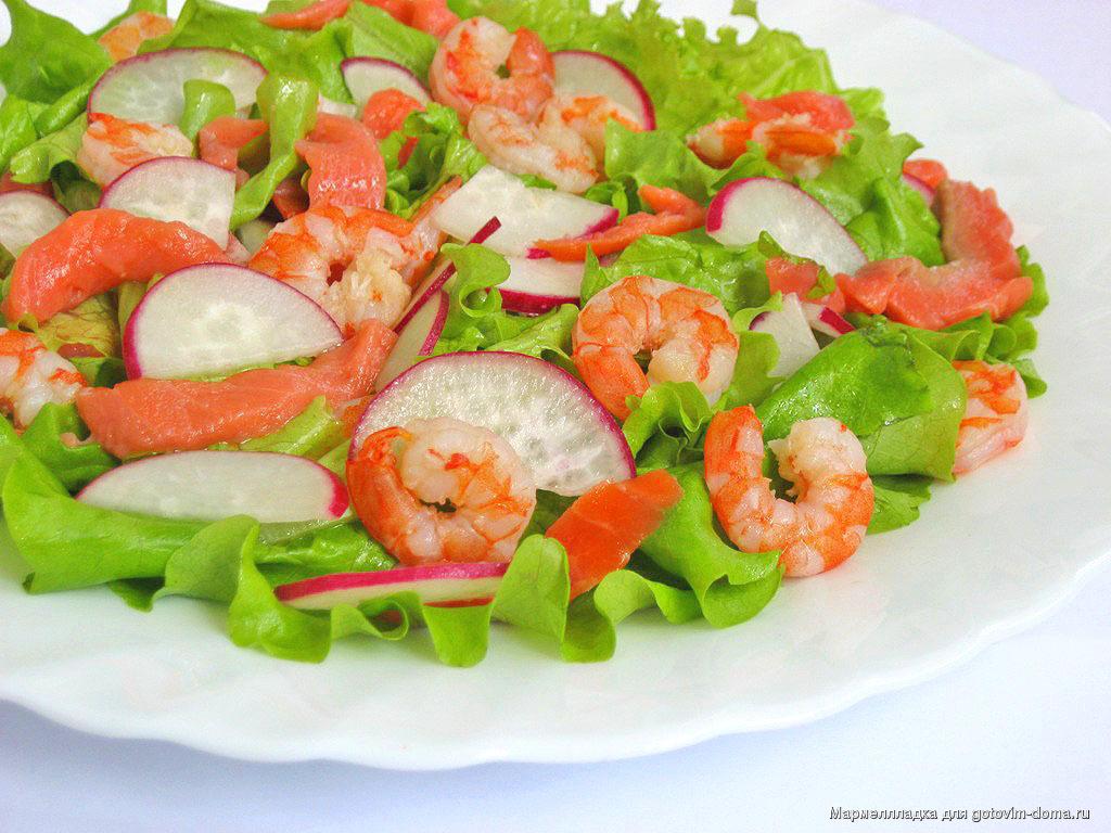 Рецепты рыбных салатов с простые и вкусные