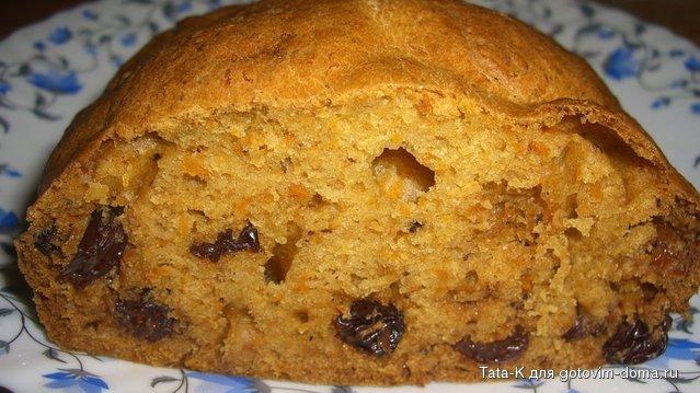 Рецепт тыквенный пирог с изюмом
