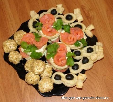 чесночный соус фото: закуска на шпажках готовим дома.