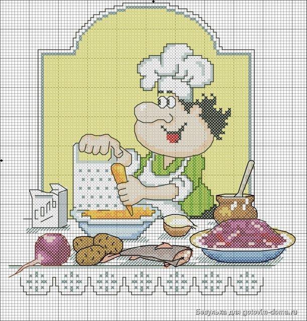 Вышивка крестом кулинария 4713