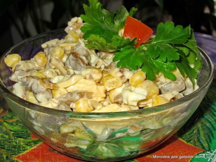 Салат из шампиньонов рецепт очень