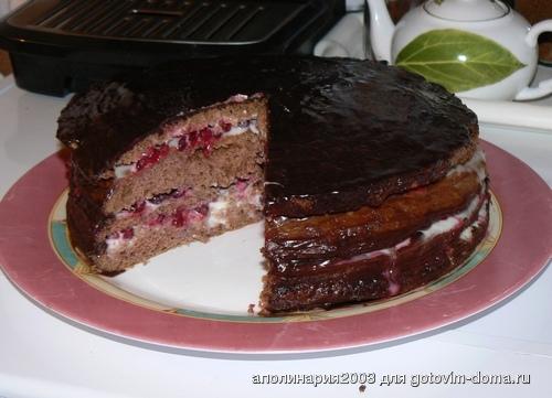 Торт с брусникой рецепт