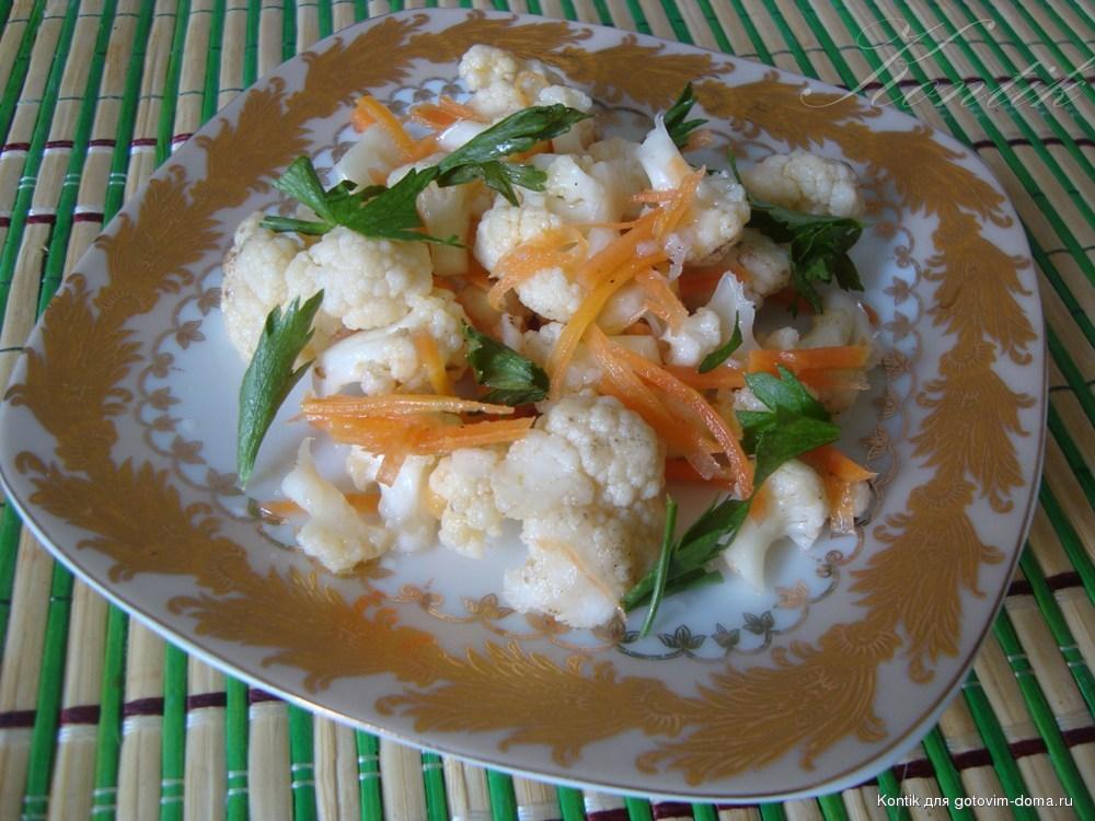 Как мариновать цветную капусту по корейски