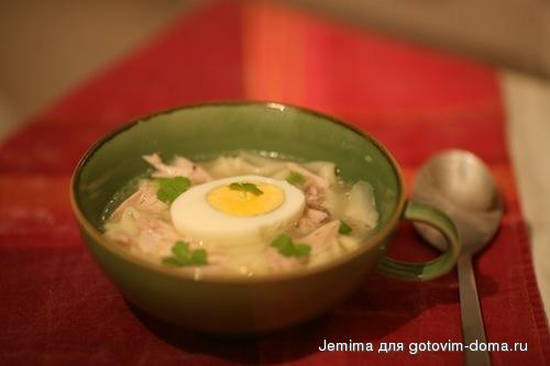 куриный супчик с яйцом рецепт с фото