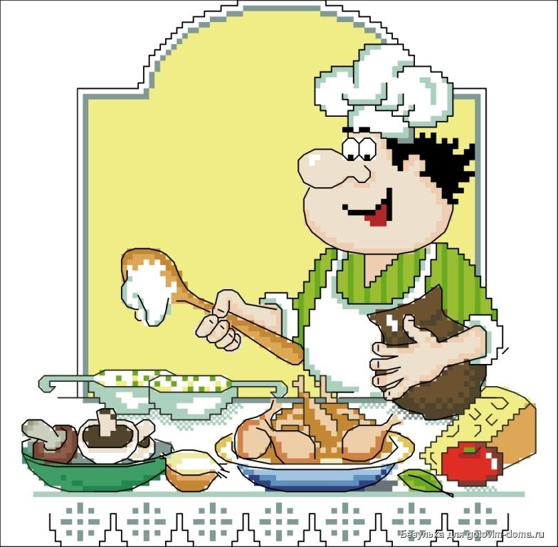 Вышивка крестом кулинария 908