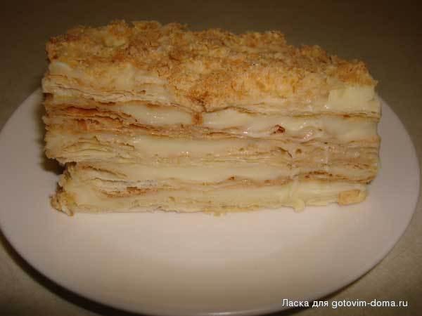 Рецепт торта наполеона с готовым слоеным тестом
