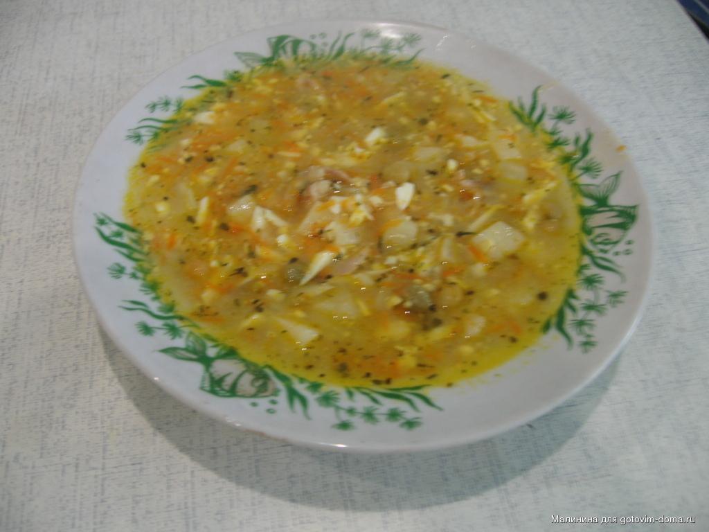 Суп куриный с консервированным горошком рецепт